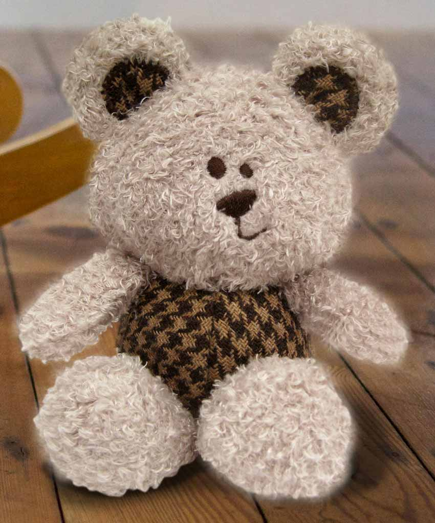 Fred Beanie Teddy Bear in pocket
